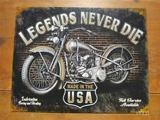 Classic Vintage American Motorcycle Advertising Metal Wall Sign Made in the USA