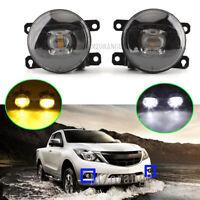 LED Smoking Black Left Right Side Fog Light Lamp For Mazda BT-50 B22 B32 2011~20