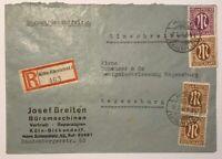 Alliierte Besetzung AM Post Einschreiben Köln -Ehrenfeld n. Regensburg 18.1.1946