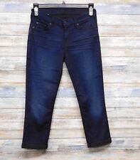 7 For All Mankind 29 x 23 Roll Skinny Leg Crop Stretch Jeans             C-20