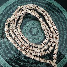 Tibet Buddhism 108 108 bone Skull Heads Prayer Bead Mala Necklace