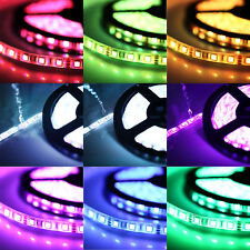 16FT RGB 3528 Waterproof LED Strip light SMD 24 Key Remote 12V US Power Full Kit