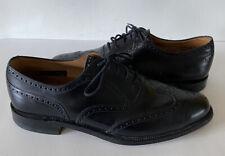 Allen Edmonds Corporate Casuals Black Leather Oxford Wing Tip Men's 11 EEE