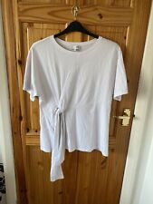Womens Ivory Coral Striped Long Line Shirt Henry Holland H
