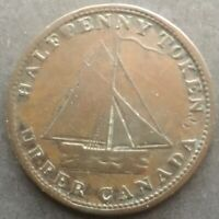 Upper Canada 1820 Commercial Change Halfpenny Token Compare prices! FREE SHIP!
