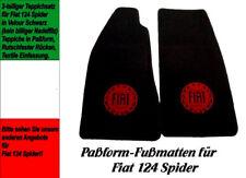 mit Stickung Fußmatten Teppich Fiat Seicento Abarth VELOUR