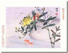 Vintage Japanese Bird Art CANVAS PRINT~ Kingfisher A3