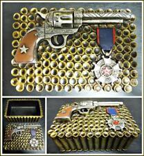 Herren Western Cowboy Schmuck Schmuckstück Versteck Verpackung Rustikal Gold
