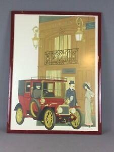 Lithographie Denis-Paul Noyer (1940) Auto & restaurants Laperouse- signé ex:196