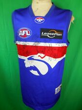 Western Bulldogs AFL Signed Football Guernsey Jersey Brian Lake Adam Cooney