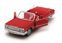 1:24-27 Red 1963 Chevy Impala Convertible WELLY DIECAST CAR