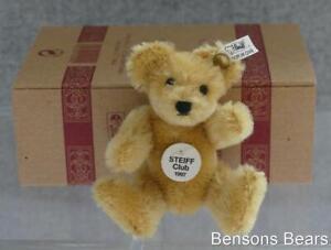 Steiff 1997/98 Club Renewal Gift Miniature Bear Blond Mohair Ean 420092