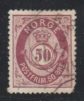 Norway stamp #30, used, 1877 - 1878, SCV $12.50