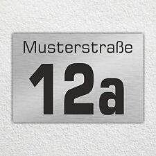 Hausnummer Hausnummernschild mit Wunschnummer u. Straßenname Format 25x17cm (80)