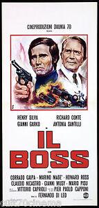 IL BOSS LOCANDINA CINEMA AVELLI FERNANDO DI LEO SILVA GARKO POLIZIESCO ITA 1973