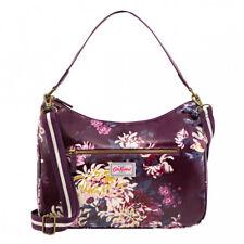Cath Kidston York Flowers Curve Shoulder Bag - Plum - BNWT