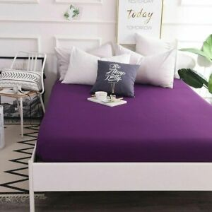 1 pc Fitted Sheets Mattress Cover Bed Sheets With Elastic Band Double Queen Size