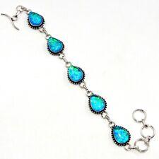 """Jewelry Bracelet 7-8"""" Ch11410 Australian Triplet Opal Gemstone Handmade"""