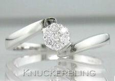9 Carat Cluster White Gold SI1 Fine Diamond Rings