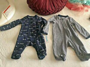 2 Brand Carter's New Born Boy Panjamas