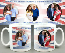 The Princes and Princess of Cambridge Mug 3-George Charlotte Louis. Kate William