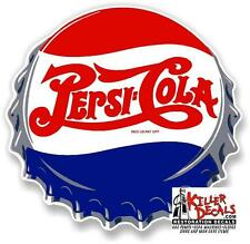 "12"" PEPSI CAP COOLER POP SODA MACHINE DECAL"