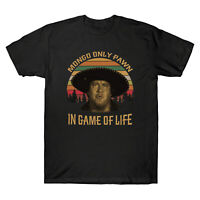 Mongo Only Pawn In Game of Life Vintage Retro Men's T-Shirt Black Navy Tee Gift