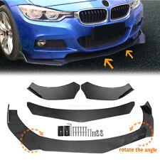 Universal Car Carbon Fiber Look Front Bumper Lip Chin Spoiler Splitter Body Kit Fits Cayenne