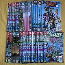 Complete set lot of 44 Relative Heroes (2000) #1-6 with dupes VF-NM Near Mint