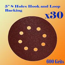 "5"" 8 Hole 600 Grit Sand Disc Paper Random Orbit Hook and Loop Sander Sanding"