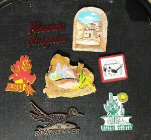 Lot of 7 Refrigerator Souvenir Collector Magnets Arizona