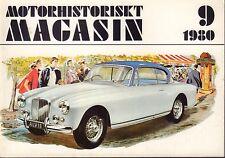 Motorhistoriskt Magasin Swedish Car Magazine 9 1980 Alvis 032717nonDBE