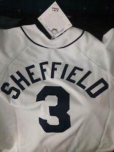 Gary Sheffield Detroit Tigers baseball shirt MLB White Tiger Jersey NEW M Medium