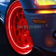 RED LED TYRE LIGHTS TIRE WHEEL VALVE STEM CAP LIGHT NEW