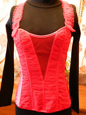 ANN SUMMERS CLUB WEAR ANYA ROUCHED CORSET DETACHABLE STRAPS RED UK 8 NWT RRP £45