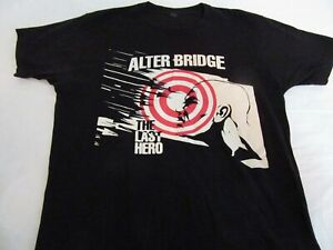 Alter Bridge Concert Tour Band T Shirt Large Double Sided Last Hero Bullseye
