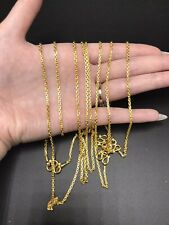 "9999 24k Solid Gold Anchor Chain Links 15 Gram 18"" 2.2mm"