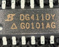 5 x DG411DY QUAD SPST INTERRUTTORE analogico SOIC 16 SMD DG411 184-269