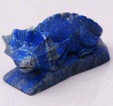 Japan Antique Handcarved Lapis Lazuli 'collared lizard' statue - 19th Century