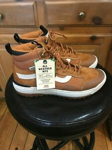 MEN NEW VANS ULTRARANGE EXO HI MTE PUMPKIN SPICE SIZE 11. ALL WEATHER INSULATED