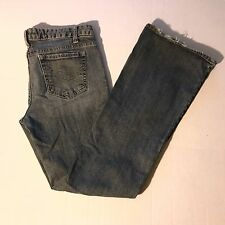 Aeropostale Women's Skinny Flare Denim Distressed Jeans, Light Washed, 7/8