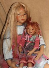 """Annette Himstedt Monja and Tinke  1 COA  boxes outfits 37 2/5''; 20"""""""
