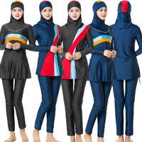 Modest Muslim Women Swimwear Full Cover Swimsuit Islamic Beachwear Arab Burkini