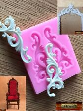 M01028 MOREZMORE Scroll Silicone Mold for Doll Furniture Carved Wood Effect A60