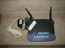 Linksys WRT54G v2.2 Wireless G Broadband Router w/Power Cord & Cable - Works!