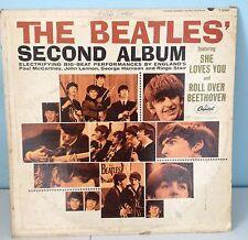 THE BEATLES - SECOND ALBUM - RECORD ALBUM - COVER WORN G - VINYL - VG+