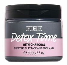 Victoria's Secret Pink New! DETOX TIME Charcoal Purifying Clay Face & Body Mask