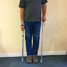 Double Adjustable Forearm Elbow Crutches Lightweight - 2 crutches included