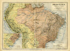 1876+Map+of+Brasil+Original+Antique+Map+