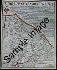 Print based on 1842 Tithe Map of Bramhall NE Woodsmoor Stockport - Local History